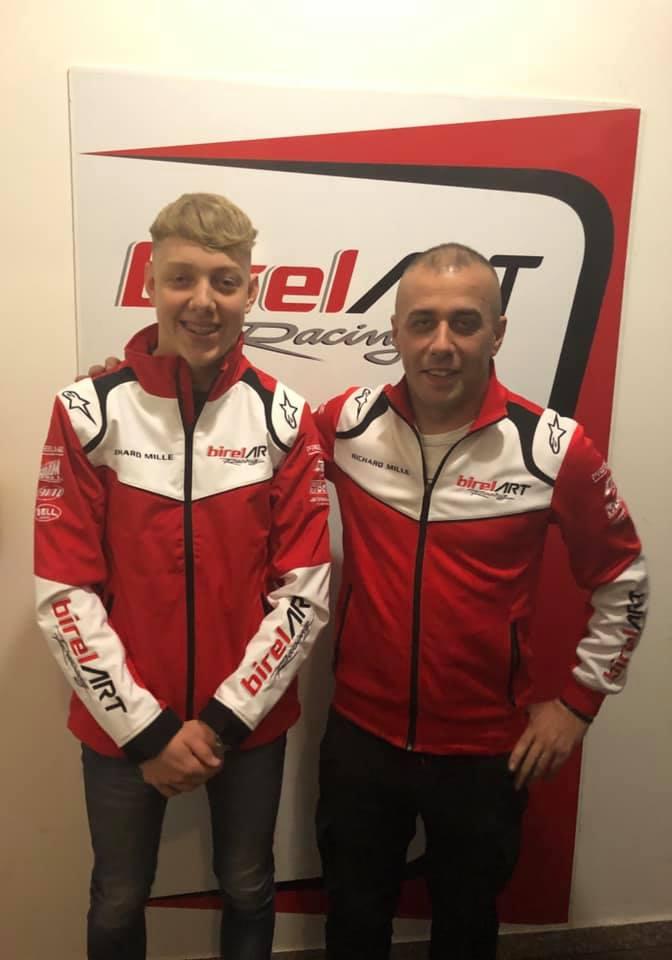 Clayton Ravenscroft with Birel ART Team Principle Luca Filini